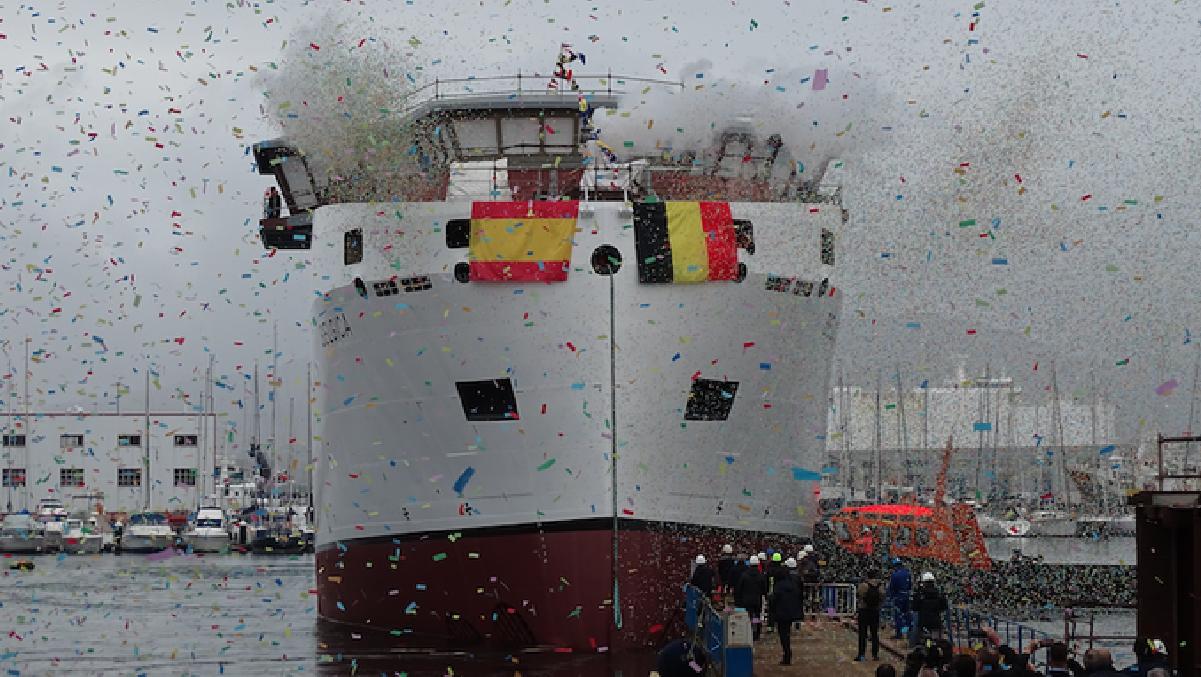 Botadura do Buque Oceanográfico Belgica – Febrero 2020