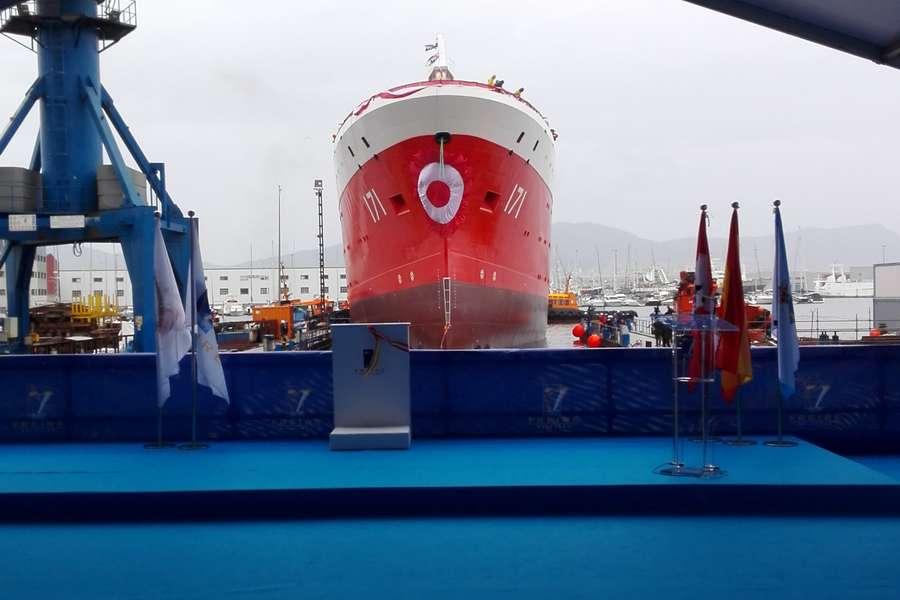 Entrega de buque carrasco Perú